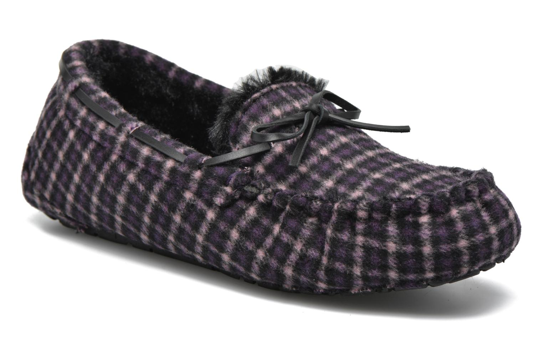 Hjemmesko Ruby Brown Check mocassin M Sort detaljeret billede af skoene