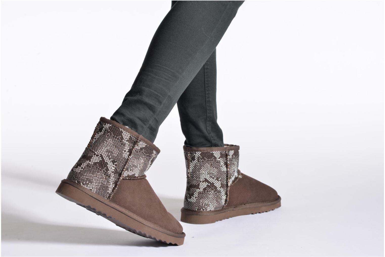 Stiefeletten & Boots Colors of California Elina braun ansicht von unten / tasche getragen