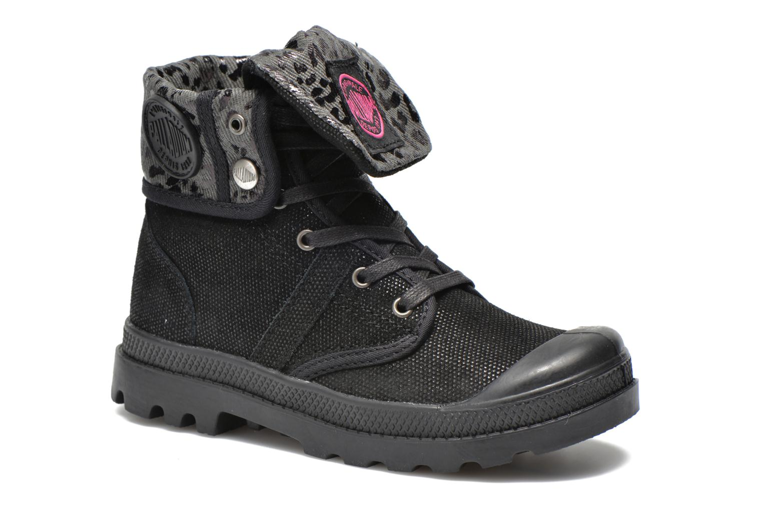 Ankle boots Palladium Baggy Fl K Black detailed view/ Pair view
