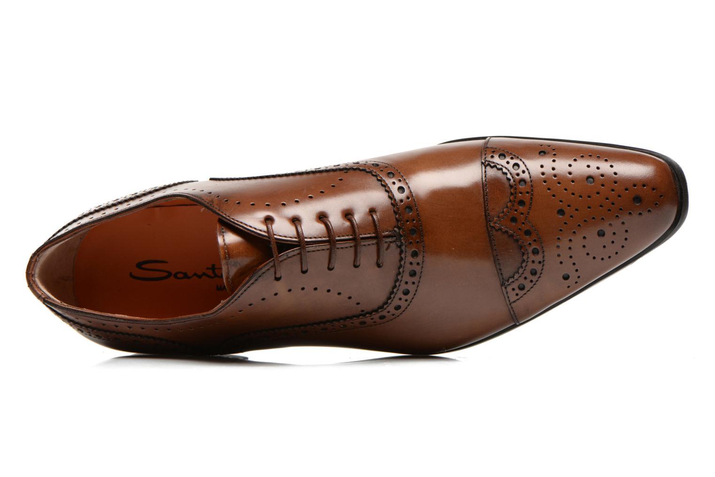 Scarpe con lacci Santoni William 14431 Marrone immagine sinistra