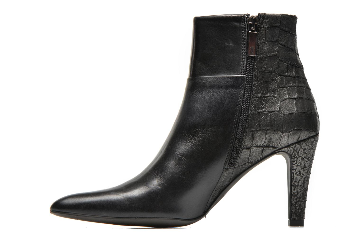 Ankle boots Perlato Poobe Black front view
