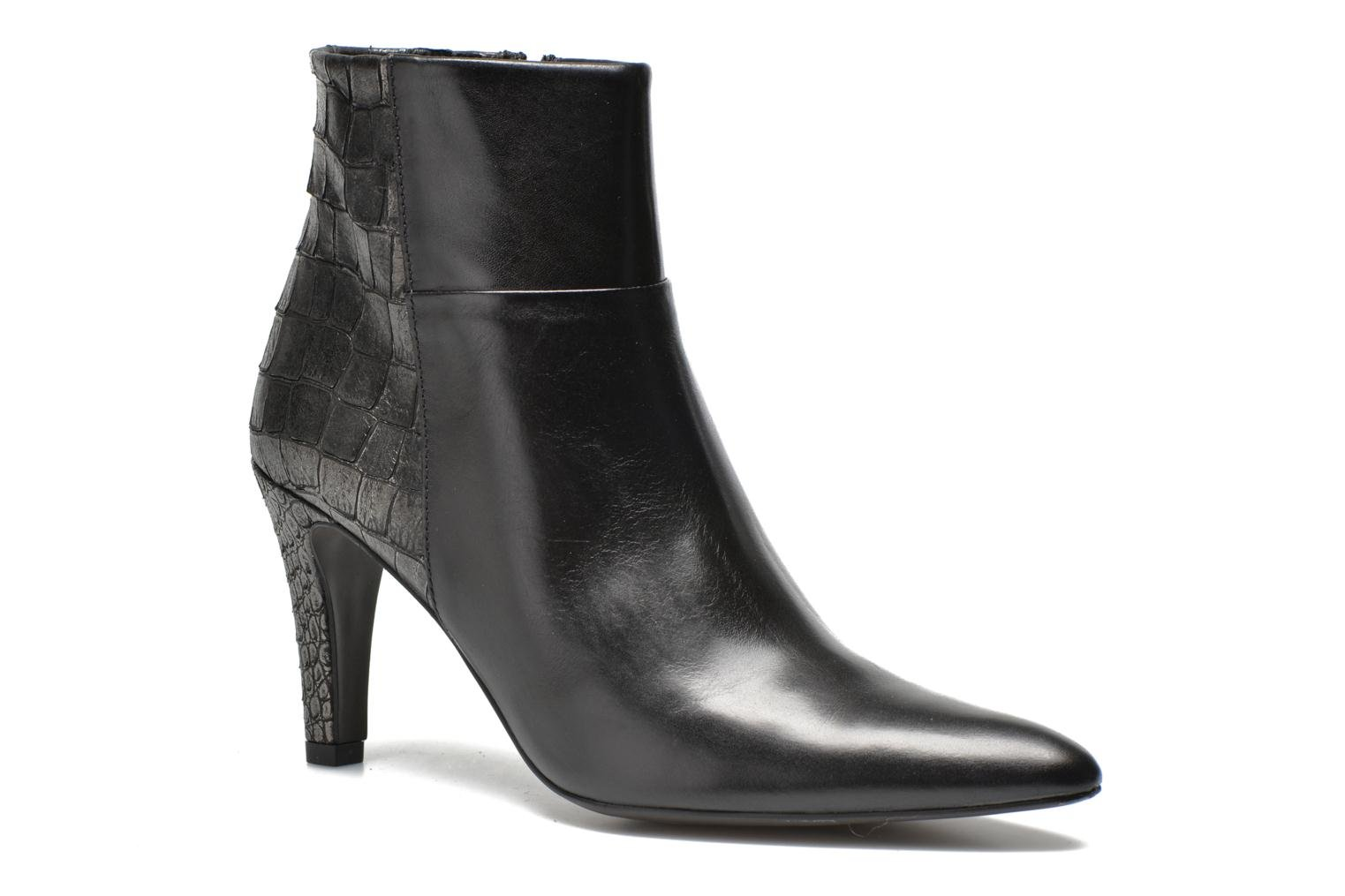 Ankle boots Perlato Poobe Black detailed view/ Pair view