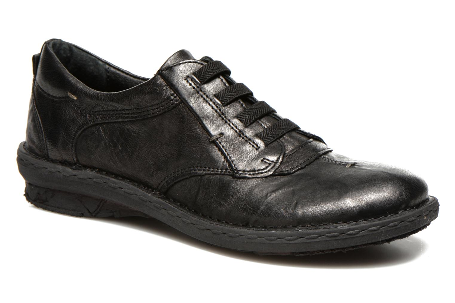 Lace-up shoes Khrio Malawi Black detailed view/ Pair view