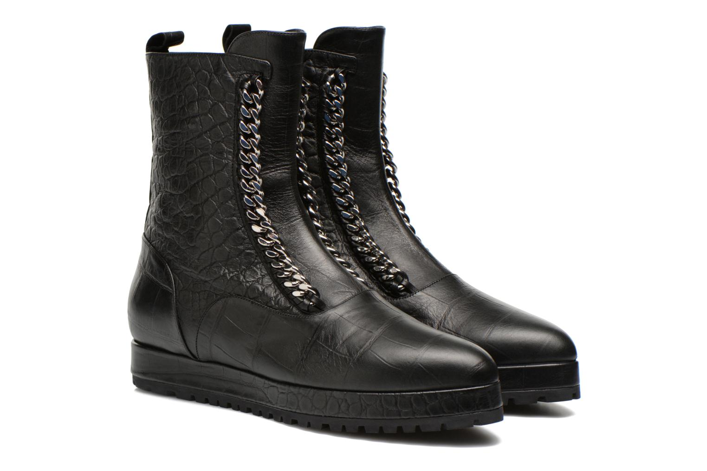 Ankle boots Vicini Bottines double chaîne Black 3/4 view
