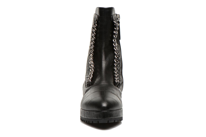 Ankelstøvler Vicini Bottines double chaîne Sort se skoene på