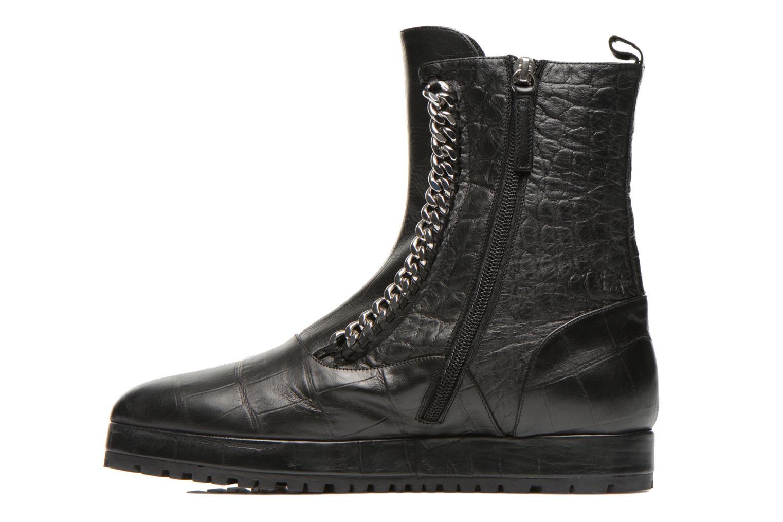 Ankle boots Vicini Bottines double chaîne Black front view