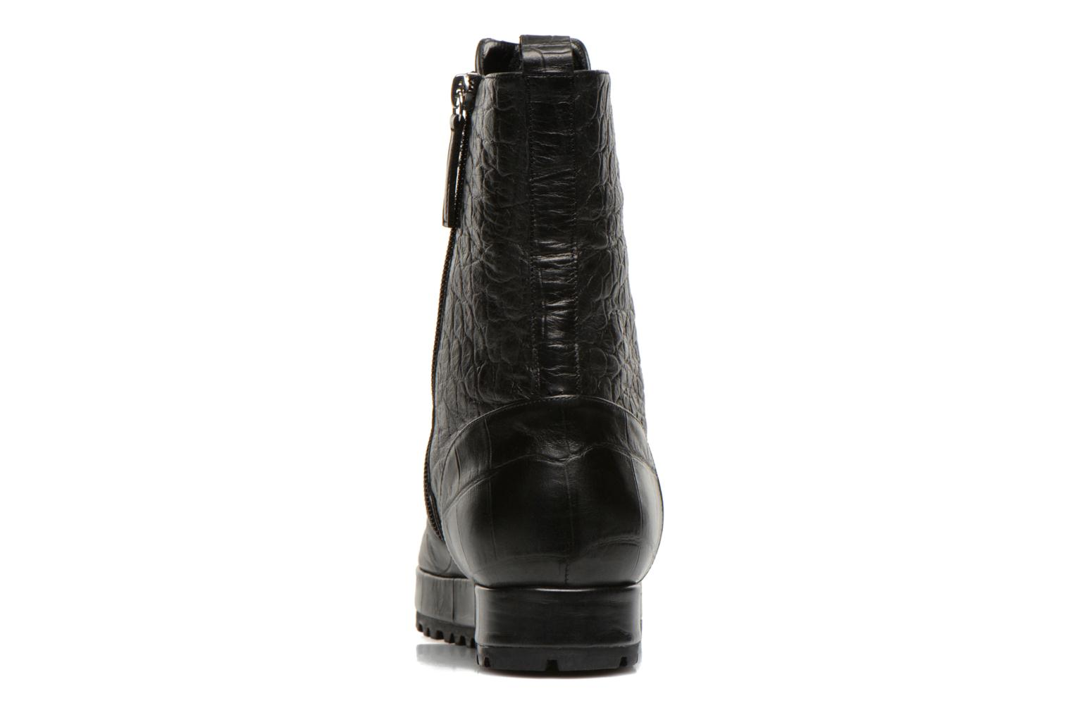 Ankle boots Vicini Bottines double chaîne Black view from the right