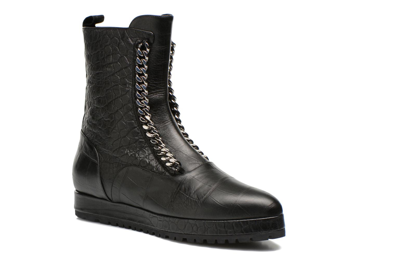 Ankle boots Vicini Bottines double chaîne Black detailed view/ Pair view
