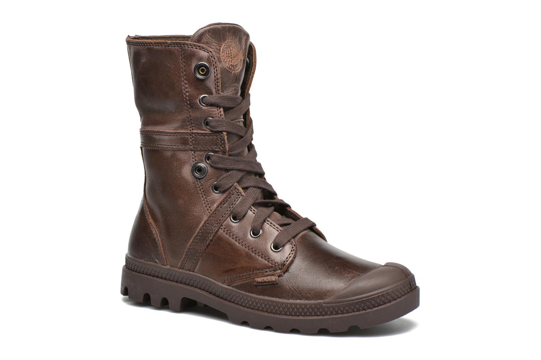 Sneaker Palladium Pallabrousse Baggy L2 U W braun 3 von 4 ansichten