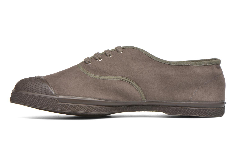 Sneaker Bensimon Tennis Lacets Vintage Velours M braun ansicht von vorne