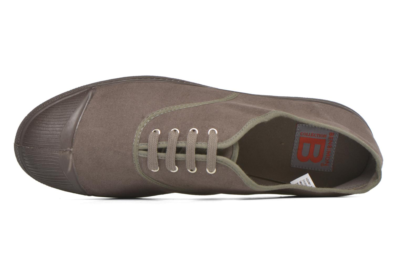 Sneakers Bensimon Tennis Lacets Vintage Velours M Brun bild från vänster sidan