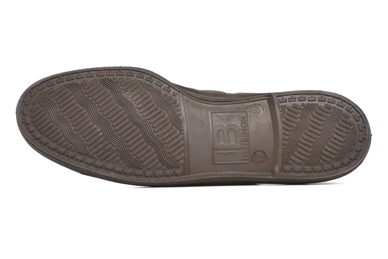 Sneakers Bensimon Tennis Lacets Vintage Velours M Brun bild från ovan