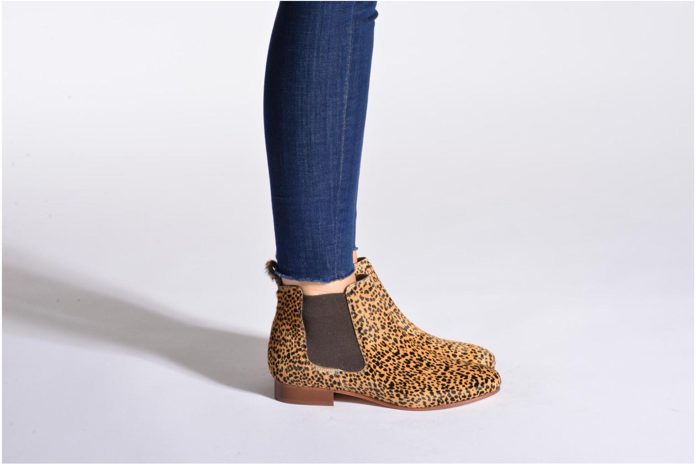 Bottines et boots Bensimon Chelsea Boots Bordeaux vue bas / vue portée sac