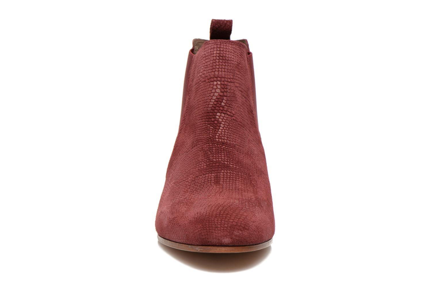 Ankle boots Bensimon Chelsea Boots Burgundy model view