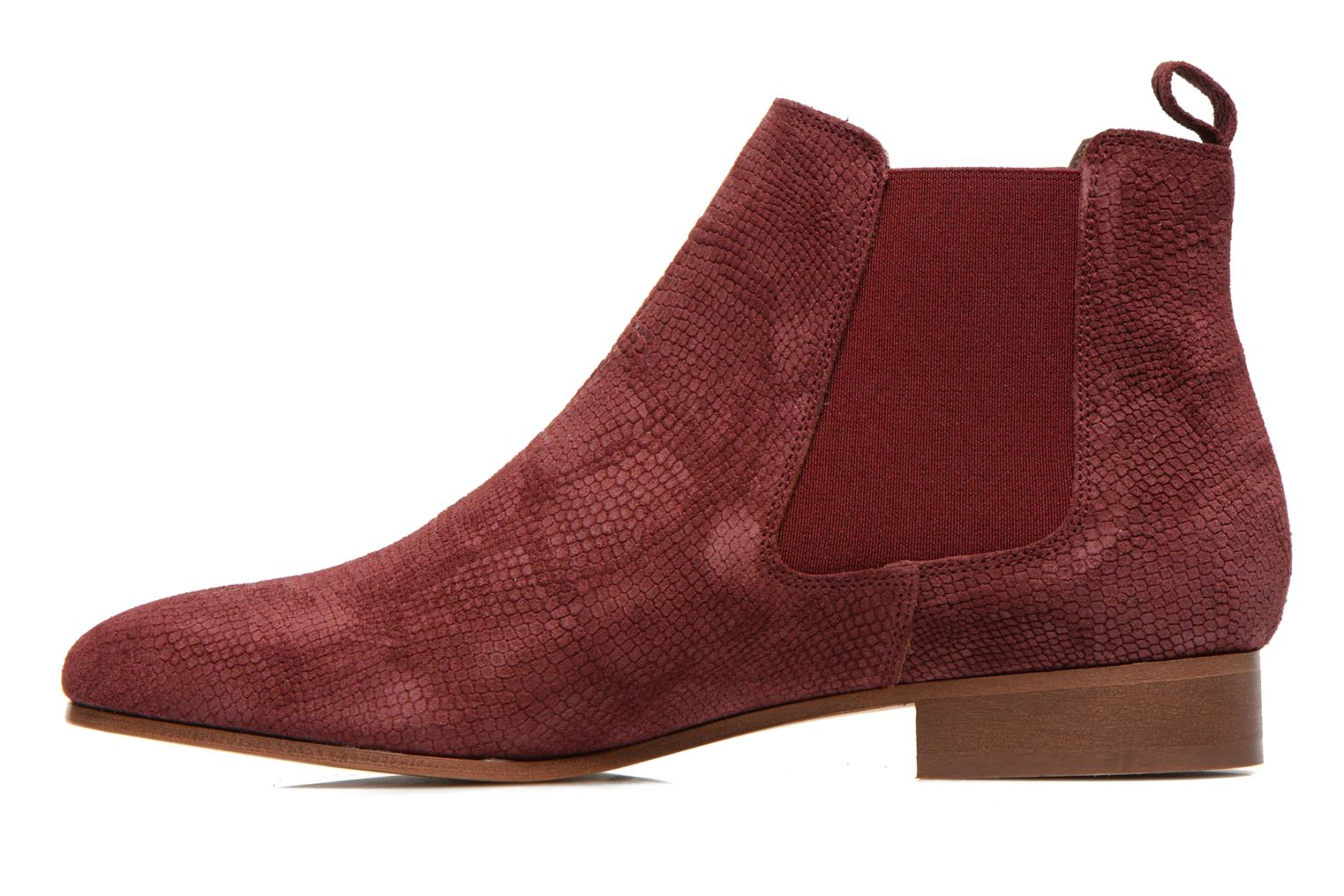 Ankle boots Bensimon Chelsea Boots Burgundy front view