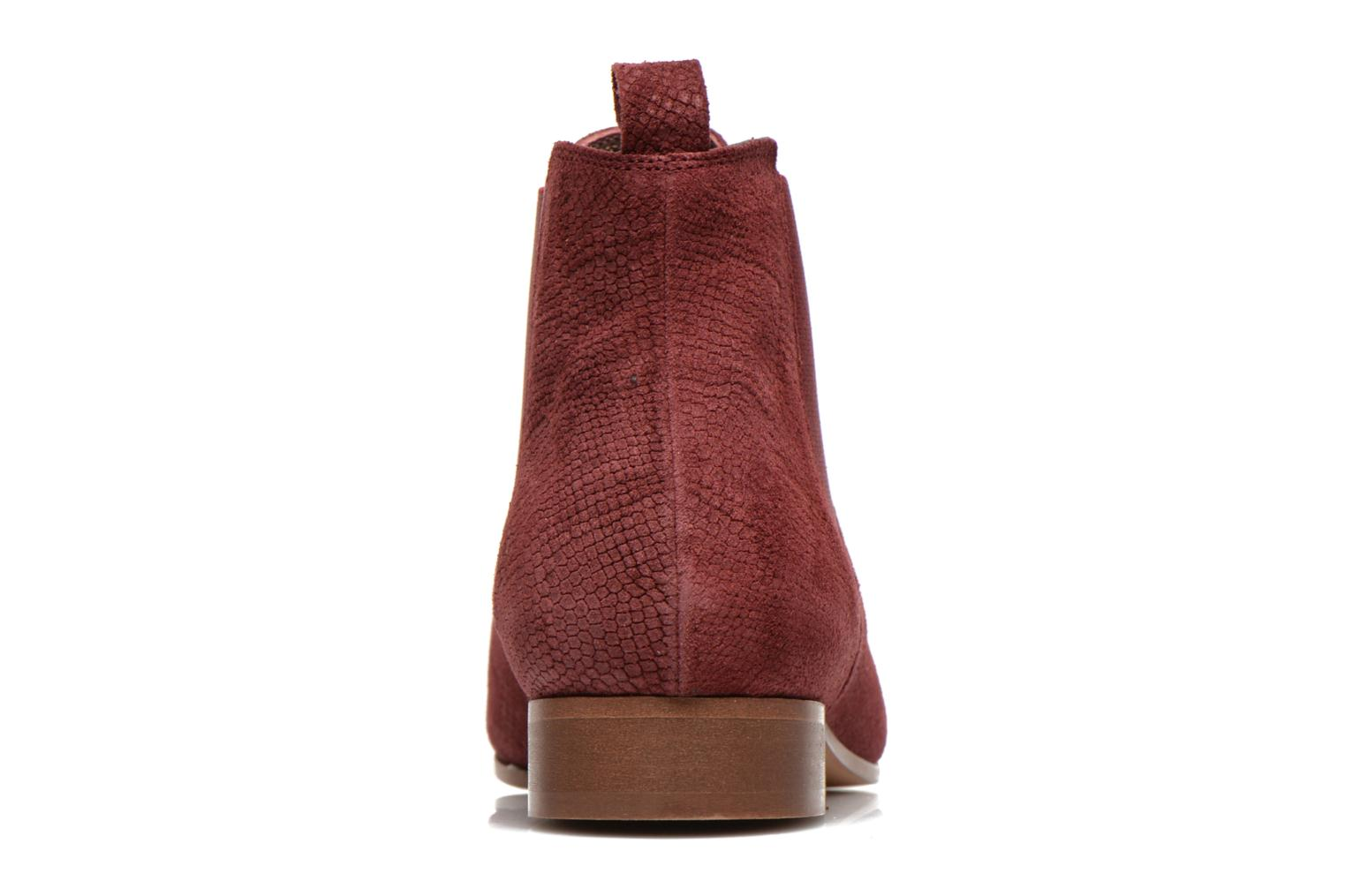 Ankle boots Bensimon Chelsea Boots Burgundy view from the right