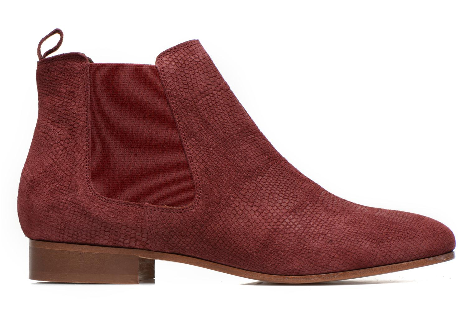 Ankle boots Bensimon Chelsea Boots Burgundy back view