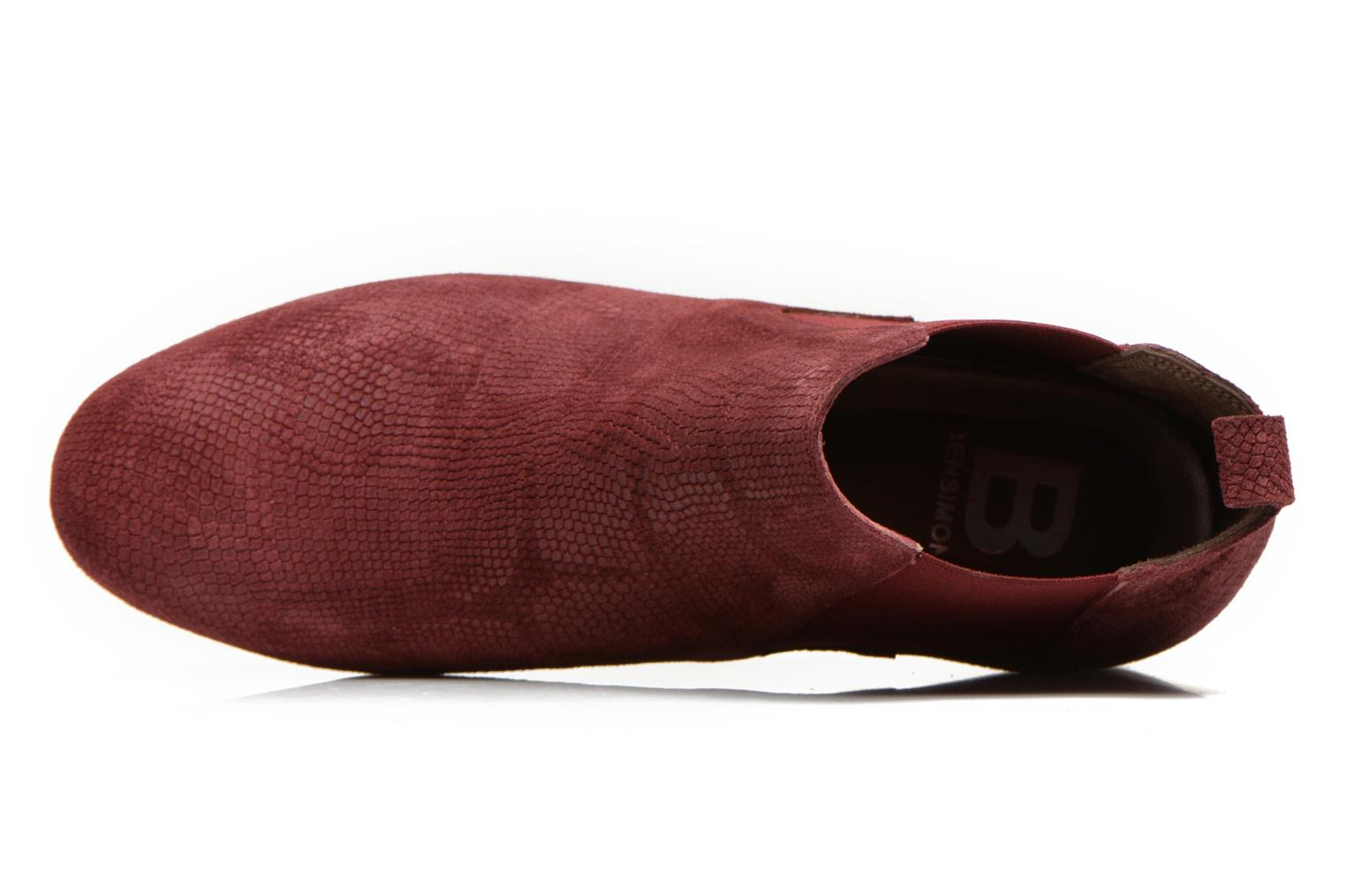Ankle boots Bensimon Chelsea Boots Burgundy view from the left