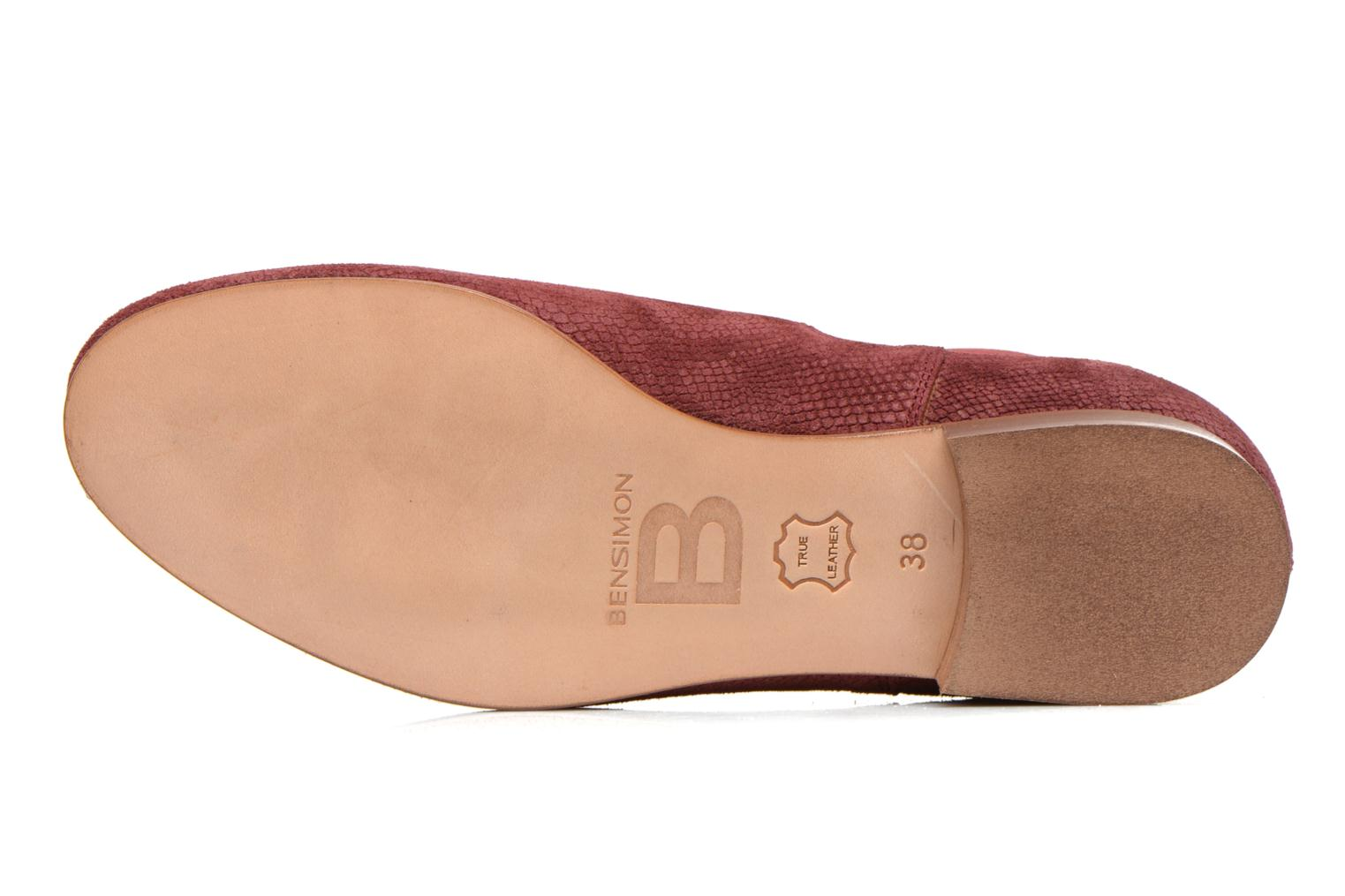 Ankle boots Bensimon Chelsea Boots Burgundy view from above
