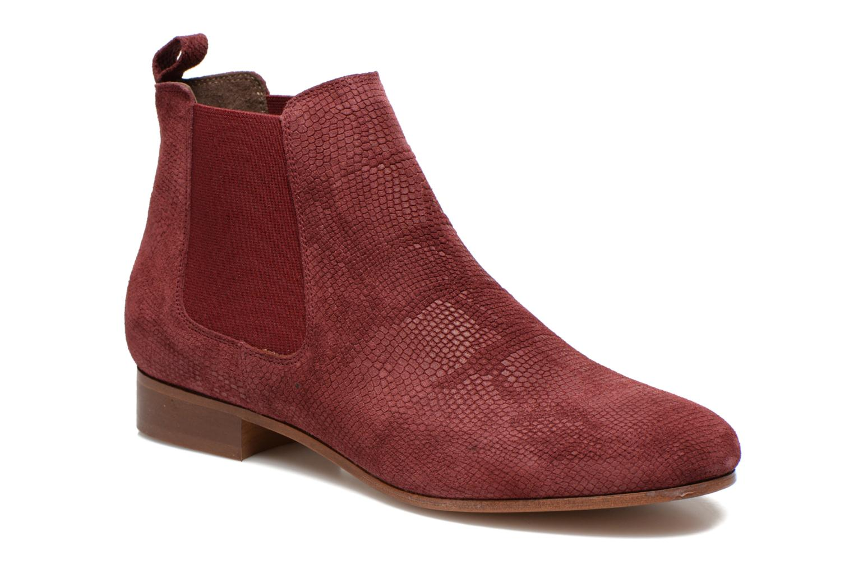 Chelsea Boots Python Bordeaux