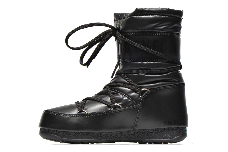Bottines et boots Moon Boot We Soft Met Mid Noir vue face