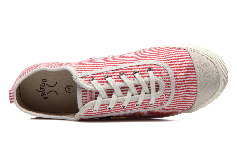 Sneaker Faguo Oak Suede M rot ansicht von links
