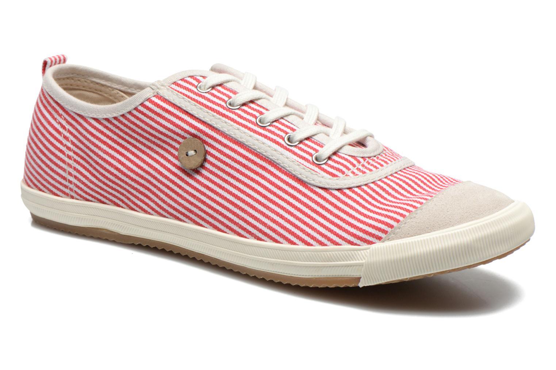 Baskets Faguo Oak Suede M Rouge vue détail/paire