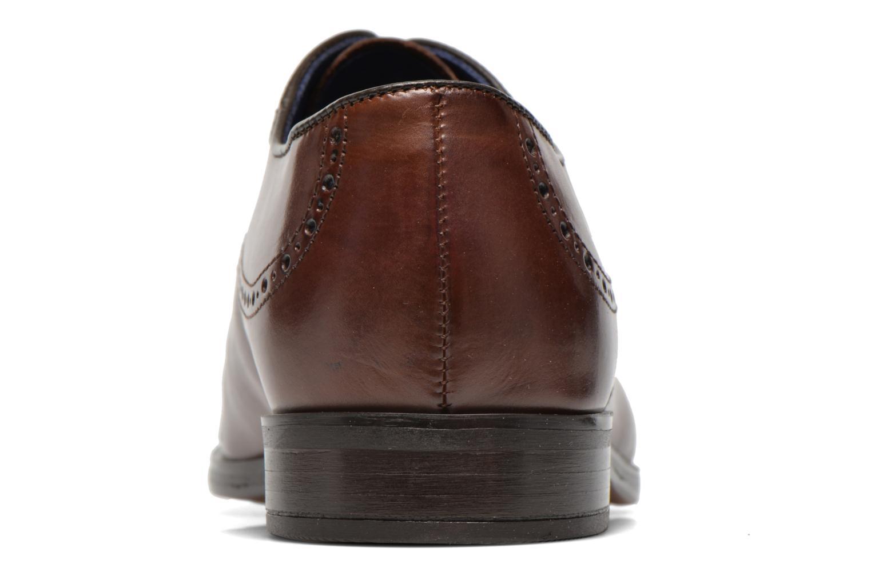 Zapatos con cordones Azzaro Depech Marrón vista lateral derecha