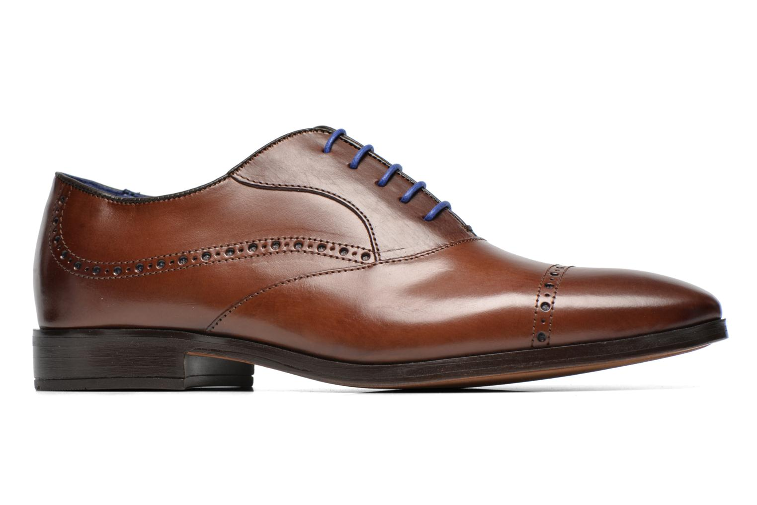 Lace-up shoes Azzaro Depech Brown back view