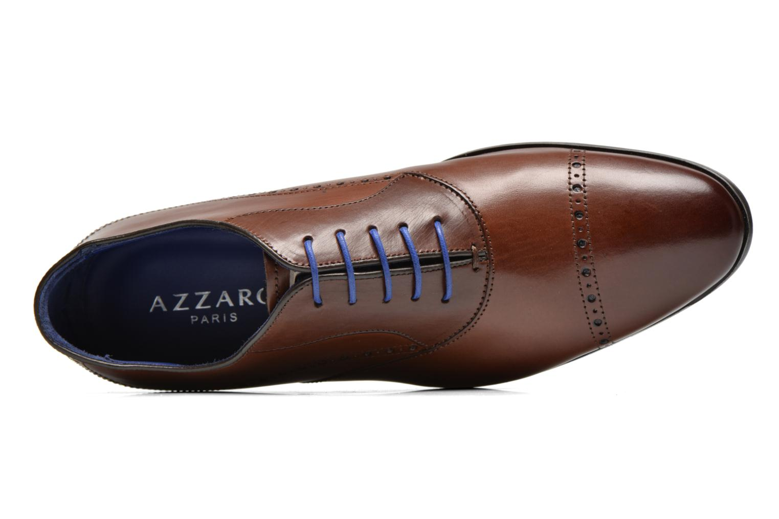 Lace-up shoes Azzaro Depech Brown view from the left