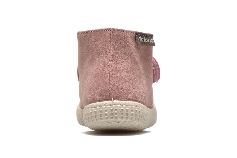 Chaussures à scratch Victoria Safari Serraje Velcro Rose vue droite
