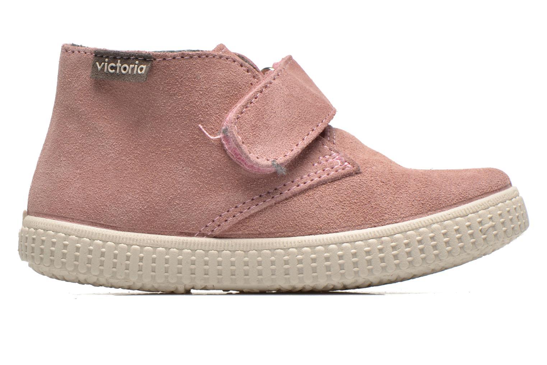 Zapatos con velcro Victoria Safari Serraje Velcro Rosa vistra trasera