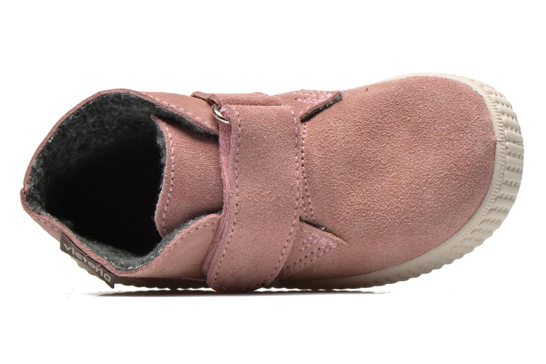 Chaussures à scratch Victoria Safari Serraje Velcro Rose vue gauche