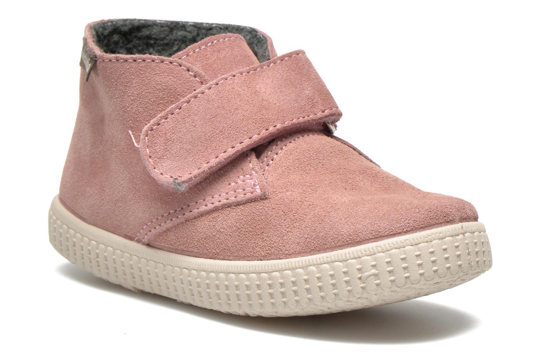 Zapatos con velcro Victoria Safari Serraje Velcro Rosa vista de detalle / par