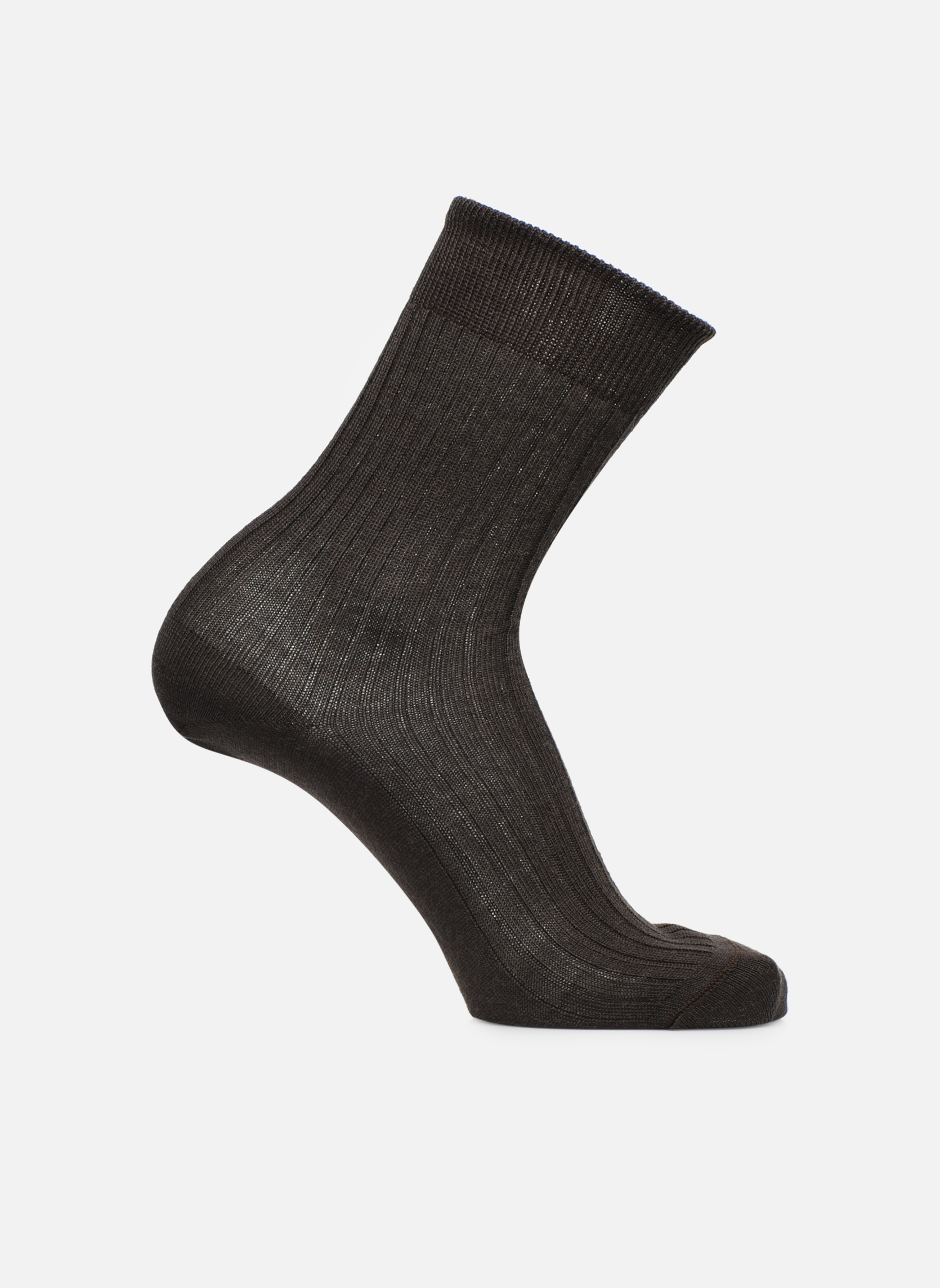 Socken unies Brun