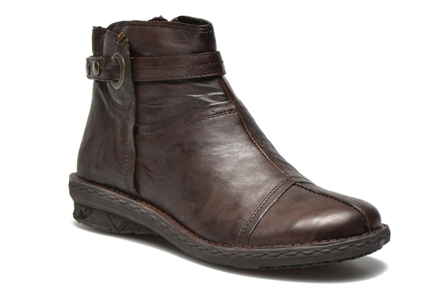 Ankle boots Khrio Shadan Brown detailed view/ Pair view