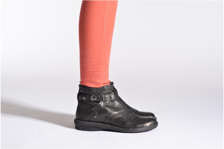 Bottines et boots Khrio Sabras Noir vue bas / vue portée sac