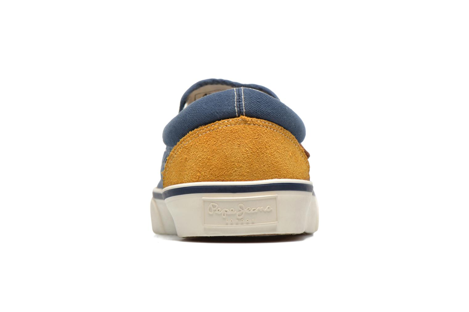 Deportivas Pepe jeans Harry Slip On Azul vista lateral derecha