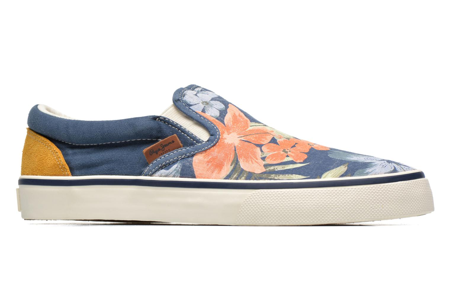 Baskets Pepe jeans Harry Slip On Bleu vue derrière