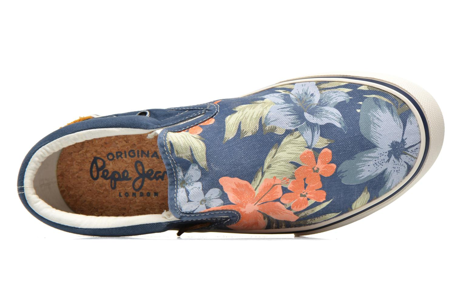 Trainers Pepe jeans Harry Slip On Blue view from the left