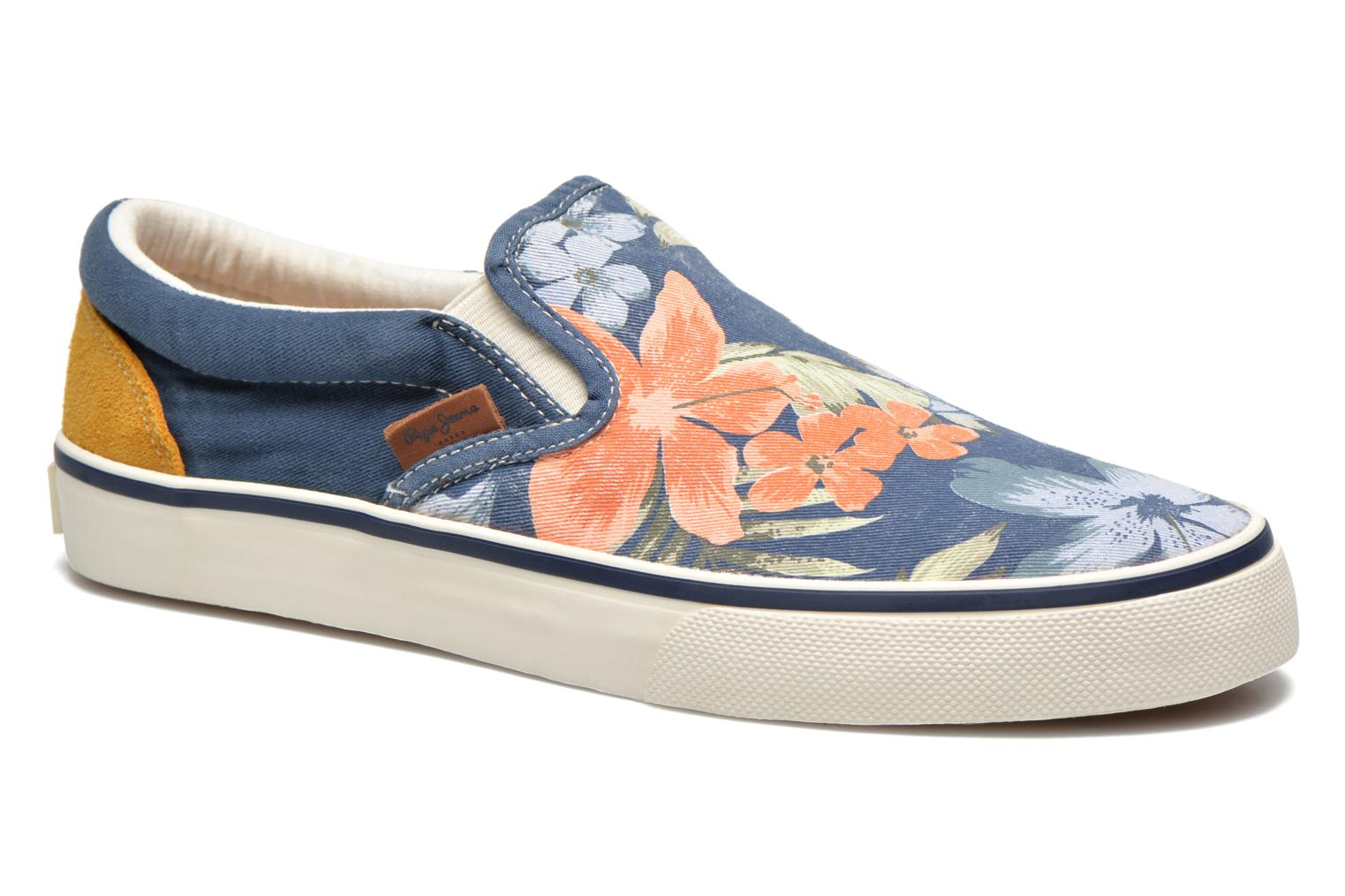 Trainers Pepe jeans Harry Slip On Blue detailed view/ Pair view