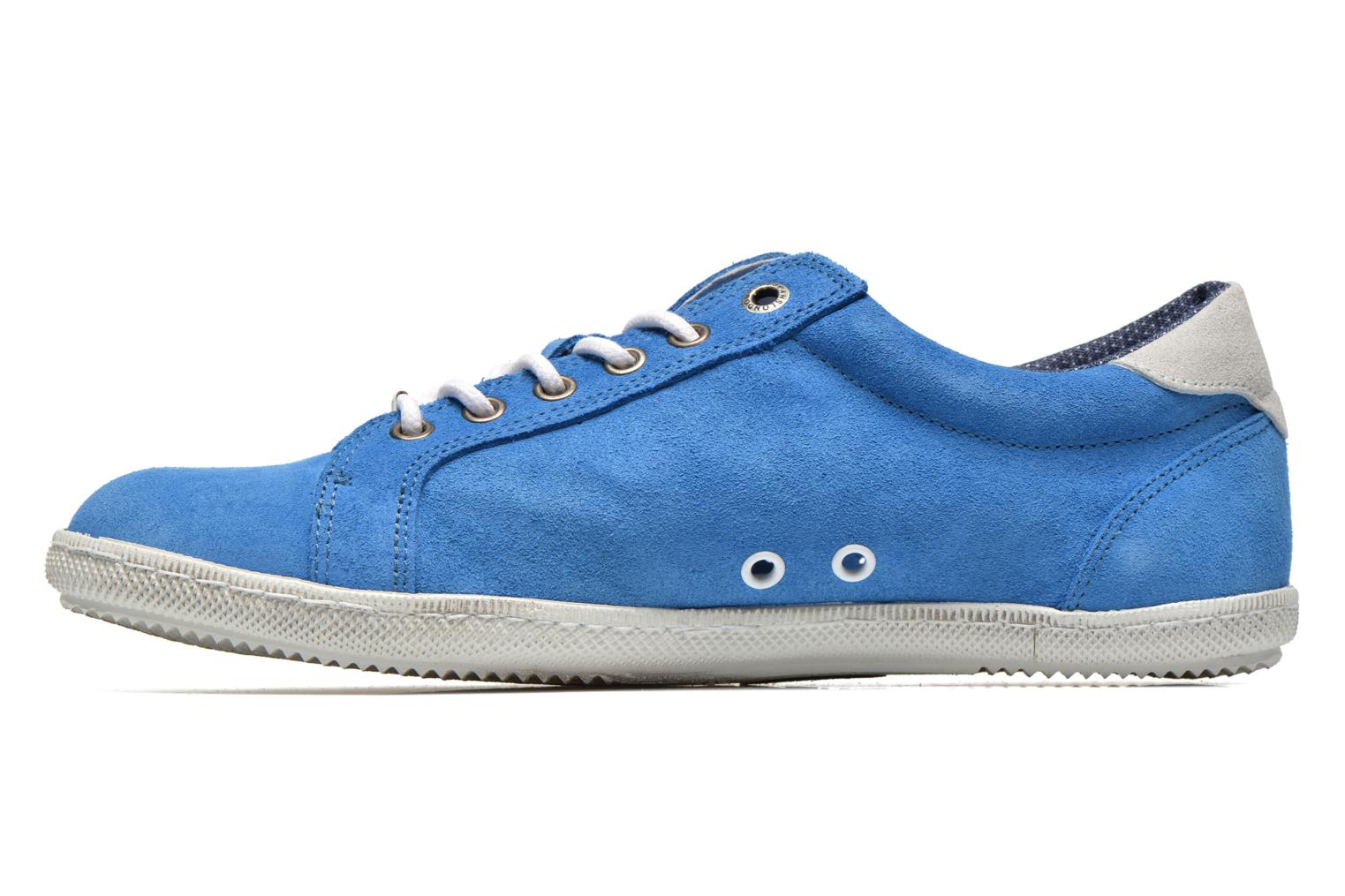 Trainers Pepe jeans Wiiliam Low Blue front view