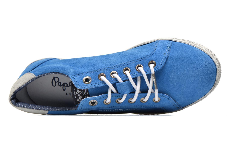 Sneaker Pepe jeans Wiiliam Low blau ansicht von links
