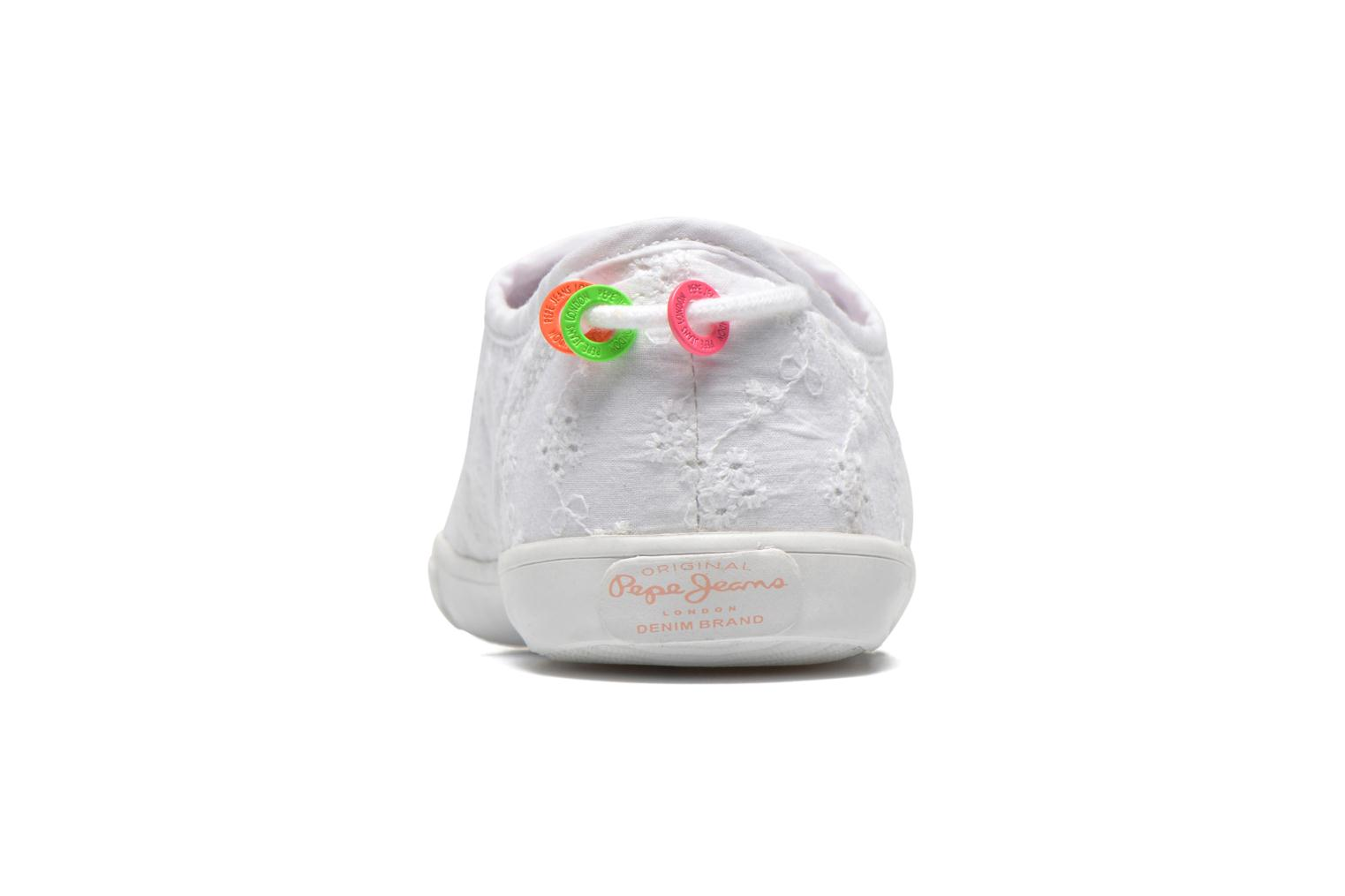 Trainers Pepe jeans Soho Embroidery White view from the right