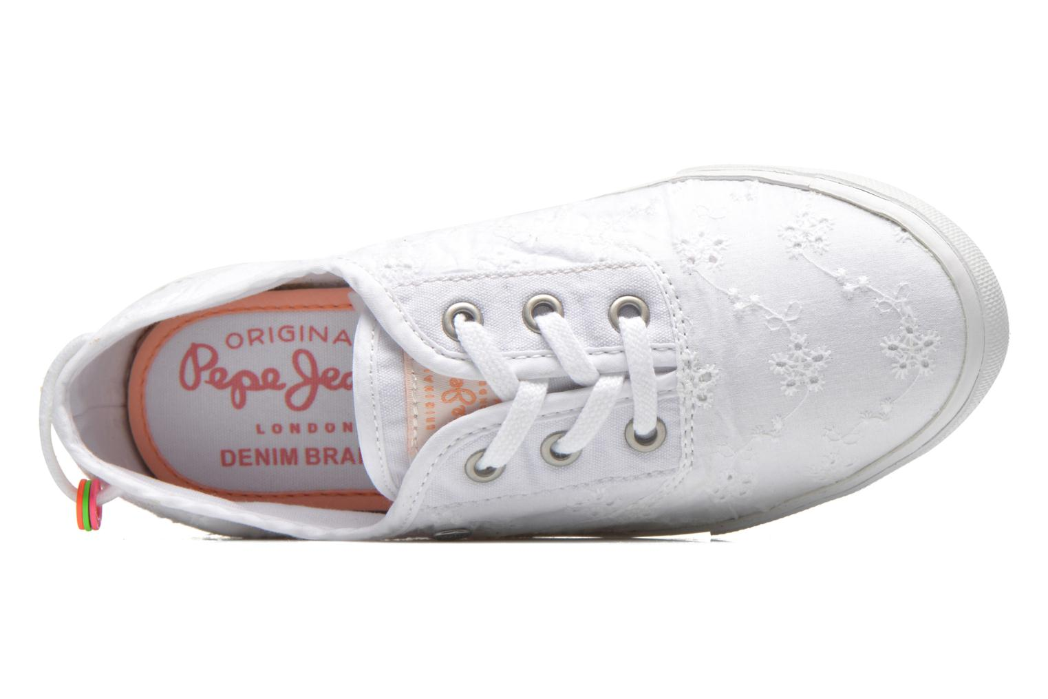 Trainers Pepe jeans Soho Embroidery White view from the left