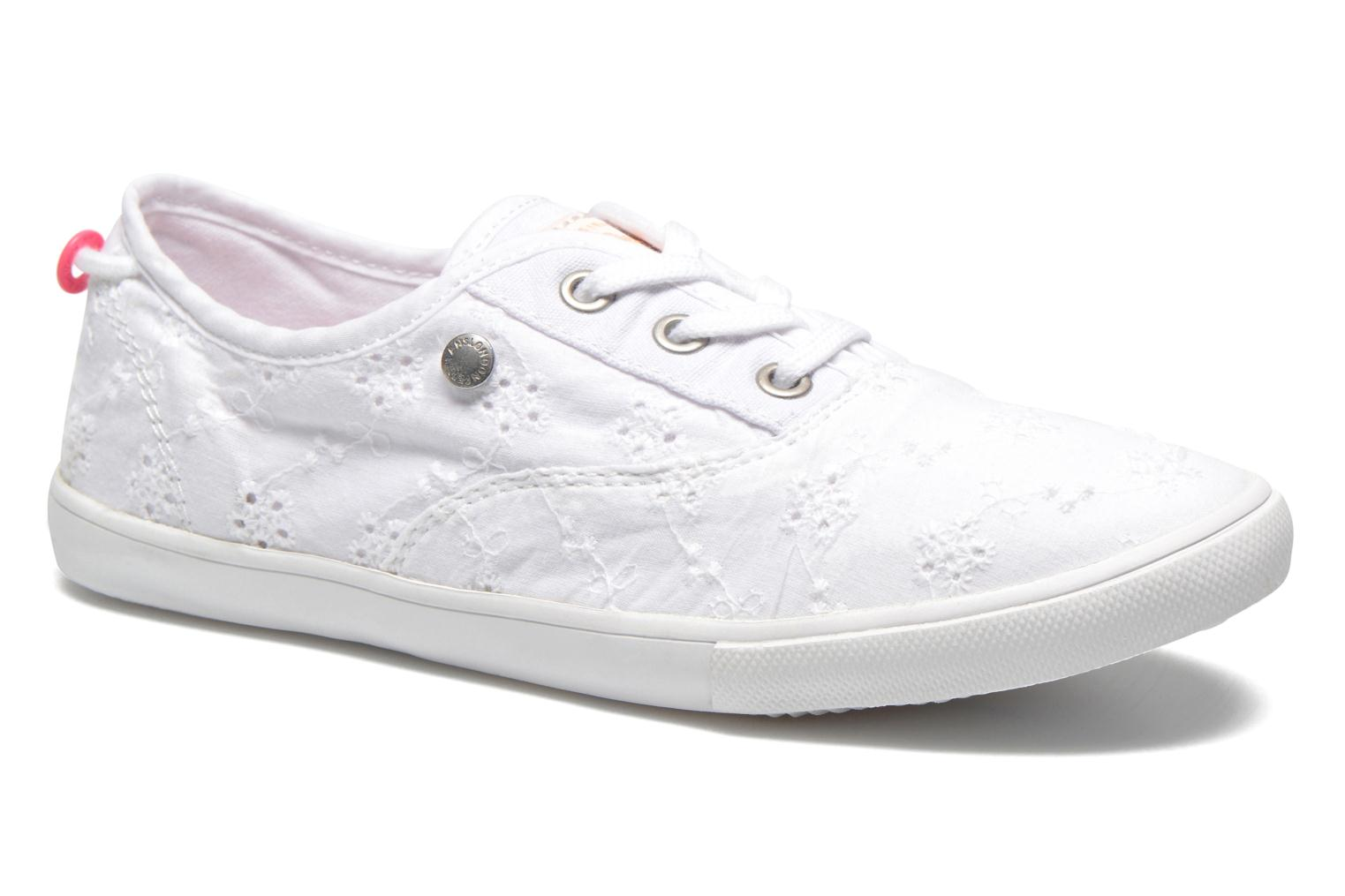 Trainers Pepe jeans Soho Embroidery White detailed view/ Pair view