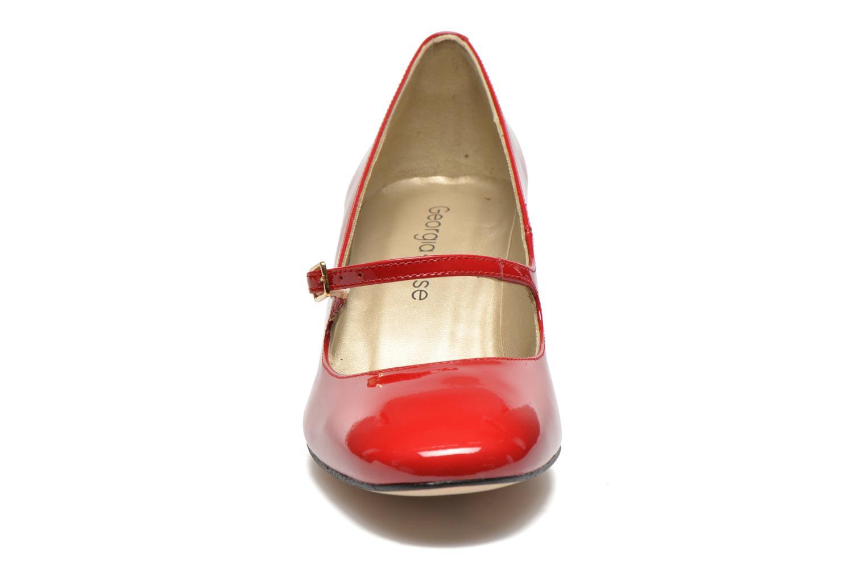 Escarpins Georgia Rose Tex new Rouge vue portées chaussures