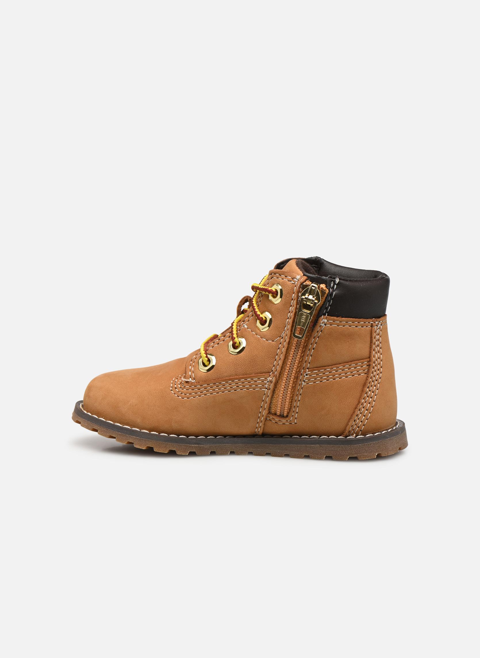 Boots en enkellaarsjes Timberland Pokey Pine 6In Boot with Beige voorkant