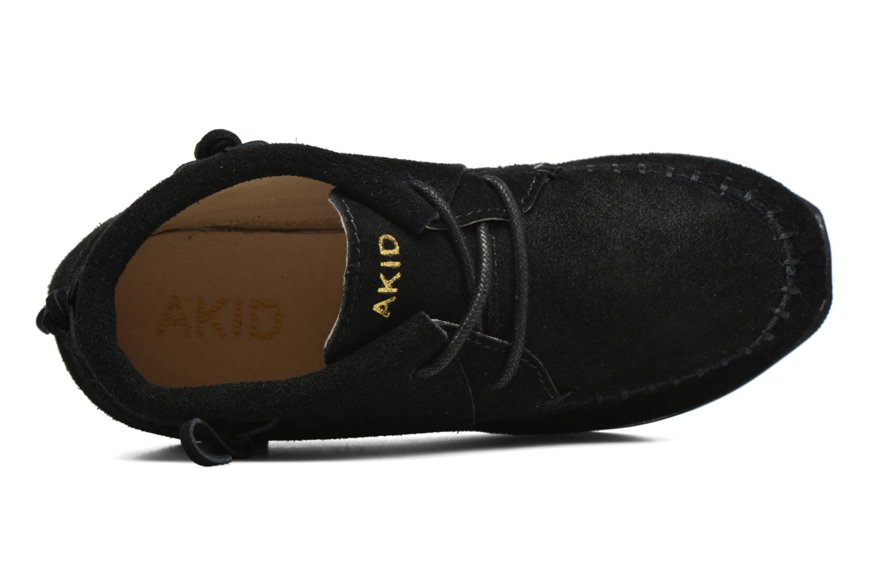 Sneaker Akid Stone schwarz ansicht von links