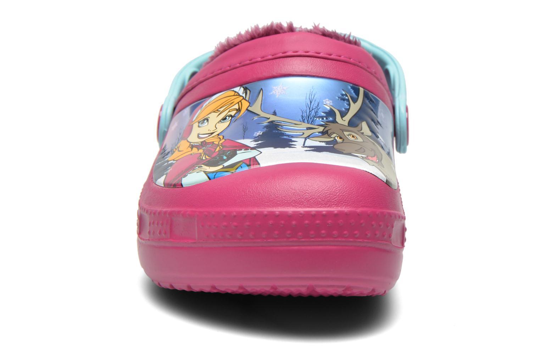 Sandales et nu-pieds Crocs CC Frozen Lined Clog Violet vue portées chaussures
